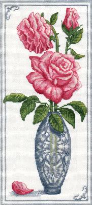 """Предпросмотр - Схема вышивки  """"Роза в вазе """" - Схемы автора  """"Juliy2802 """" - Вышивка крестом."""