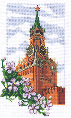"""Оригинал - Схема вышивки  """"Спасская башня """" - Схемы автора  """"lena-m-n """" - Вышивка крестом."""