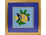 купить набор для вышивания крестом и бисером Кларт 8-022 Рыбка-ангел.