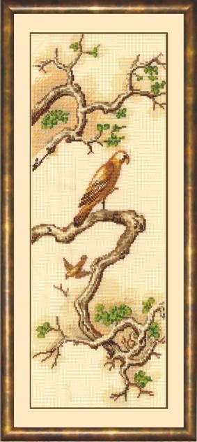 """Набор для вышивания крестиком  """"Китайские мотивы.  Сокол """" ."""