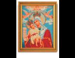 """Иконы ручной работы.  Ярмарка Мастеров - ручная работа Икона ,вышитая бисером  """" Богородица милующая  """" или  """" Д..."""