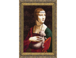 ...наборы для вышивания Музейная коллекция: Золотое руно - вышивка Дама с горностаем, серия Музейная коллекция...