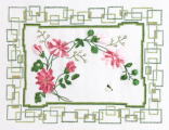 Хризантемы, 26х20, аида 14, счетный крест и вышивка лентами.  Номер.  1. Panna.