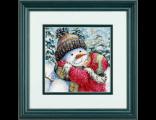 Поцелуй для снеговика A Kiss for Snowman (70-08833) набор для вышивки Dimensions.  The Golden Collection.